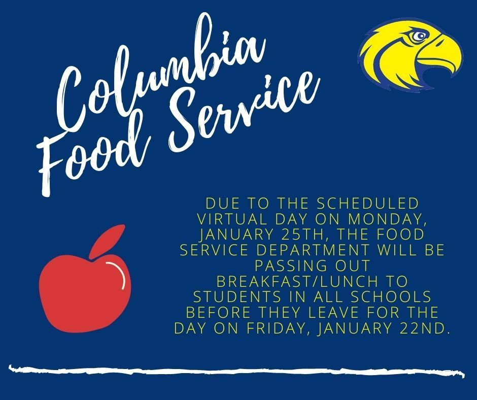 Columbia Food Service Announcement