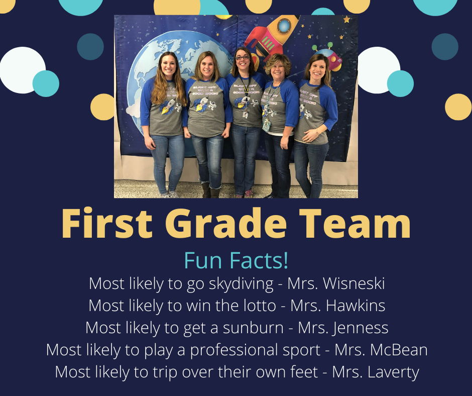 Shout Out to Our 1st Grade Team
