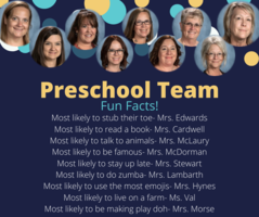 Shout Out to Our Preschool Team