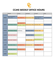 CCJH Weekly Office Hours