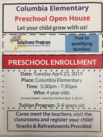 Columbia Preschool Open House