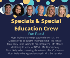 Shout Out to Our Specials & Special Education Crew