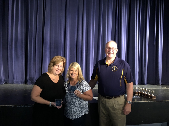 Mr. Wahr congratulated Mrs. Hunter and Mrs. Schatzle for winning the You Make A Difference Award! Congratulations!