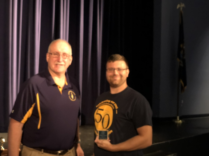 Mr. Wahr congratulated Mr. Timmerman for earning the You Make A Difference Award!