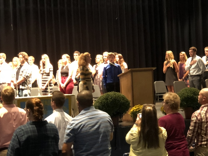 National Honor Society induction.
