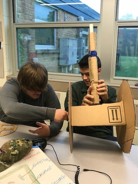 COHS students learn how steering systems function by building 3-D models.