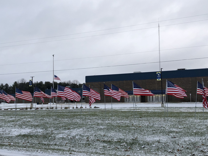Thanks to the Kiwanis Club for providing the flags for Veterans Day!