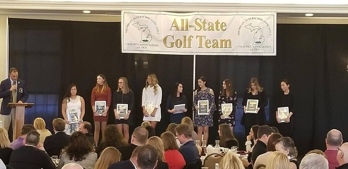 Alissa on the All-State Golf Team.