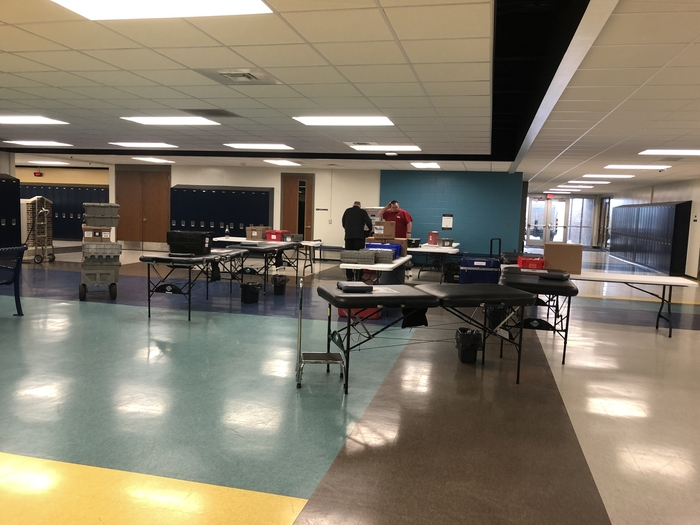 Setting up the Blood Drive!