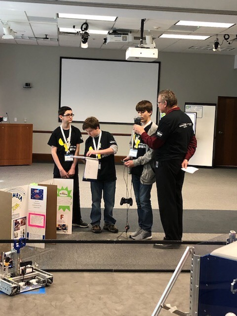 CCJH Robotics Team Visits Consumers Energy