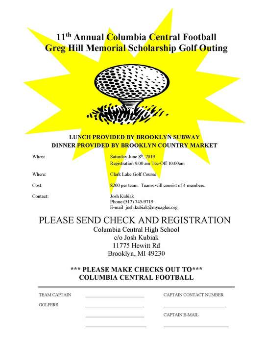 Scholarship Golf Outing Flyer