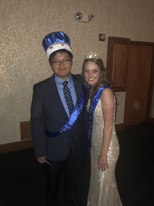 Prom King Daniel Yang and Queen Mackenzie Ashby.
