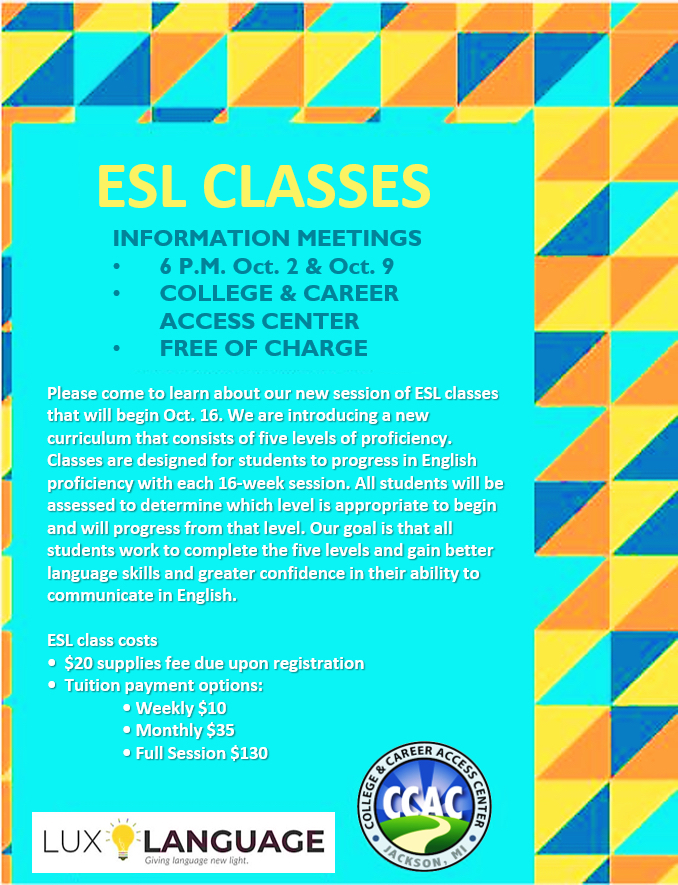 ESL classes offered