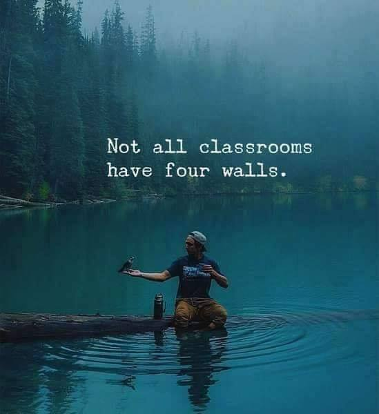 Not all classrooms have four walls.