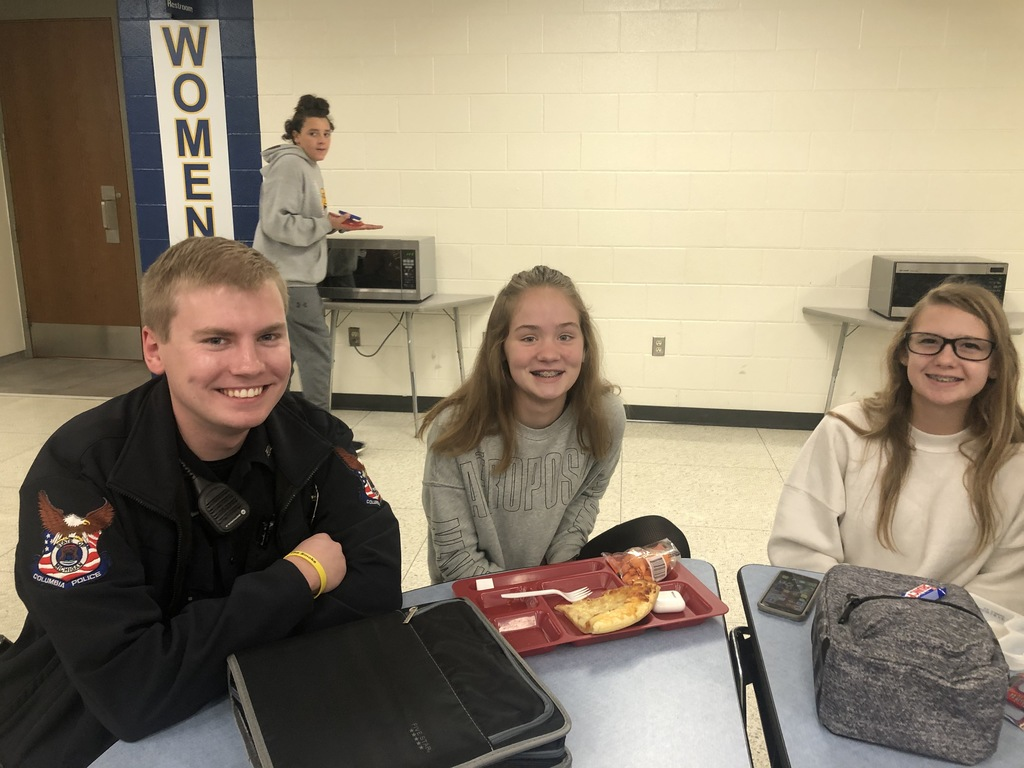 Meeting students during lunch at CCHS.