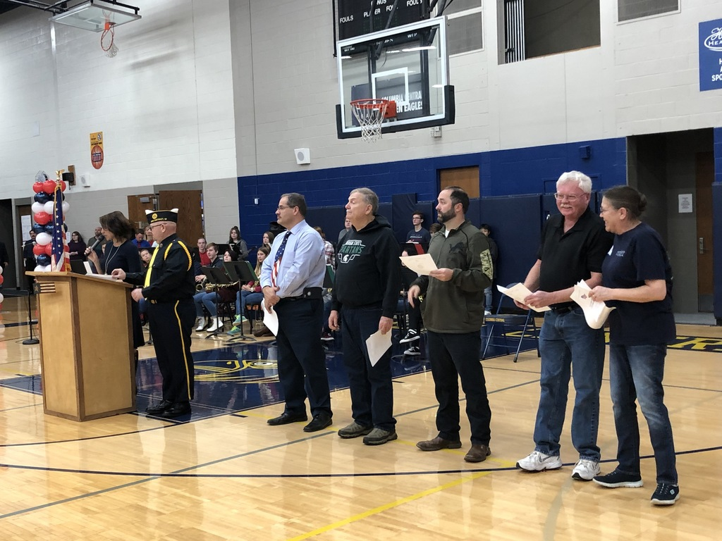 Columbia staff members honored for their service.