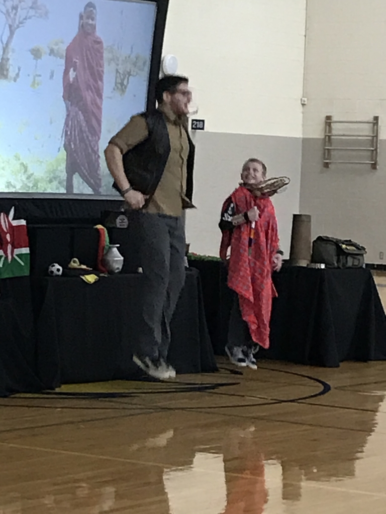 Students learn about the culture in Kenya