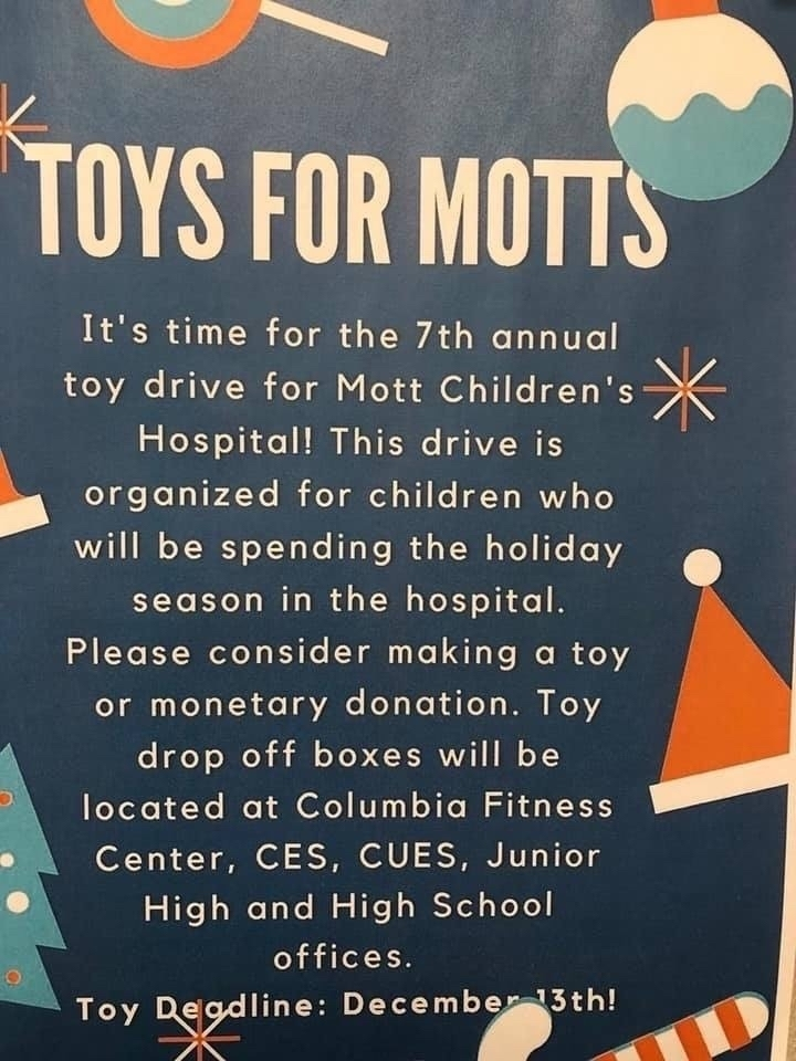 Support the toy drive